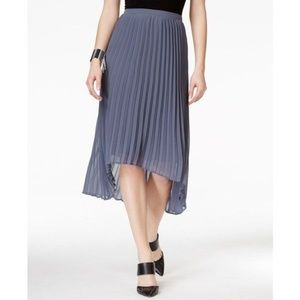 New! Pleated Hi-Low Chiffon Skirt